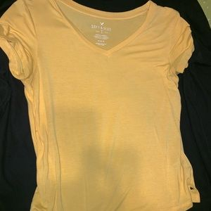 yellow American eagle outfitters v neck